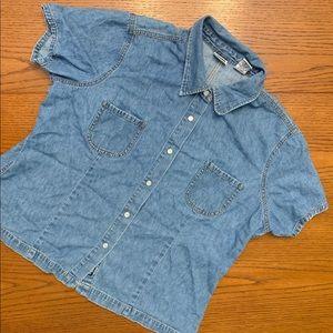 Lee Button Up Jean shirt size XL
